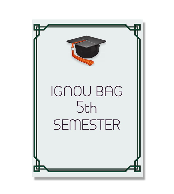 IGNOU BAG Fifth Semester