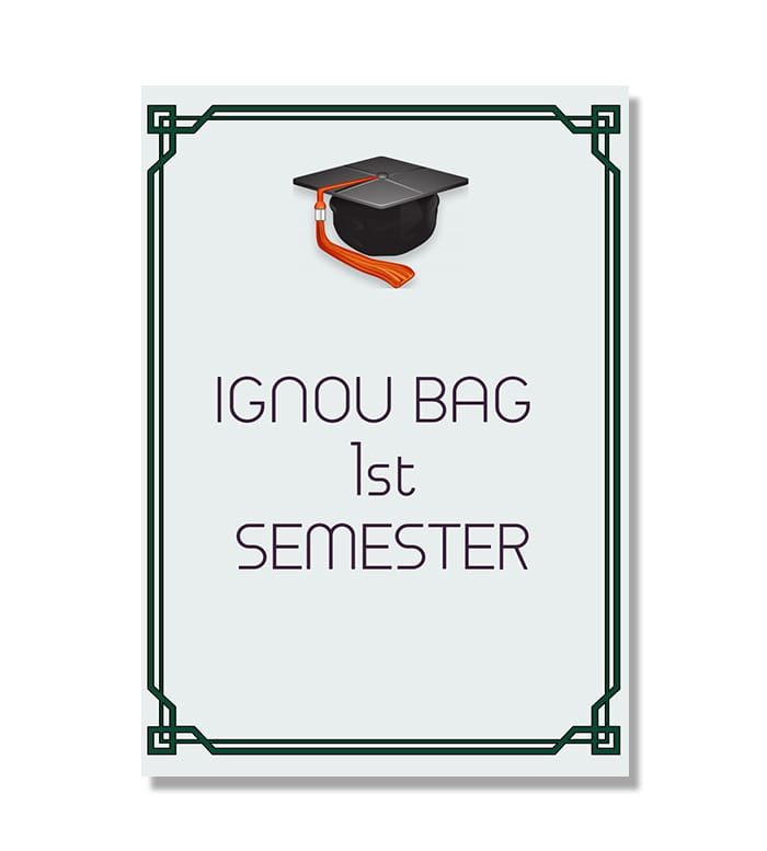 IGNOU BAG First Semester